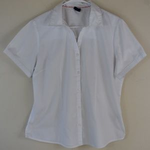 Basic Editions Size Large White Button Up Shirt